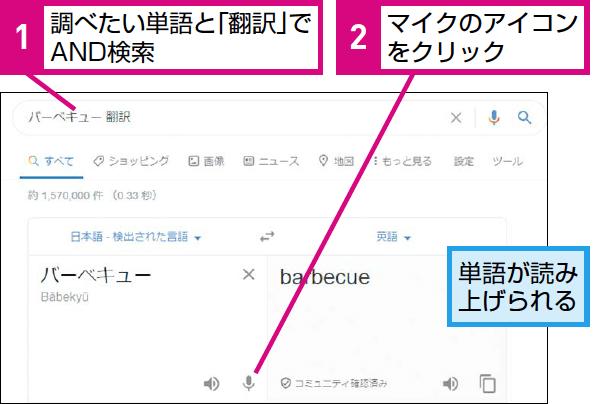 Google検索で外国語の発音を調べる方法