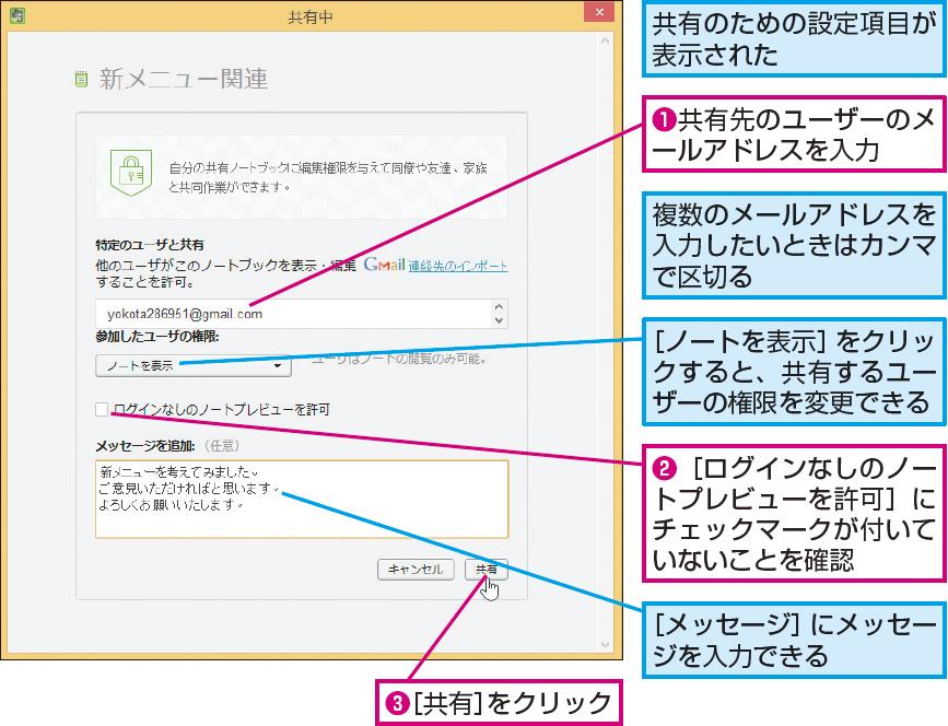 操作解説:共有先のユーザーに招待メールを送信する