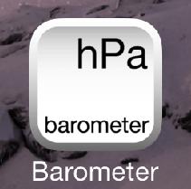 [Barometer]アプリを起動する
