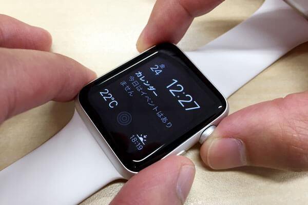 Apple Watchのスクリーンショット(画面キャプチャ)を撮る方法