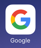 「Google」アプリを起動する