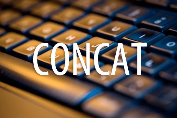 CONCAT関数の使い方。複数の文字列の連結にセル範囲を指定できる!