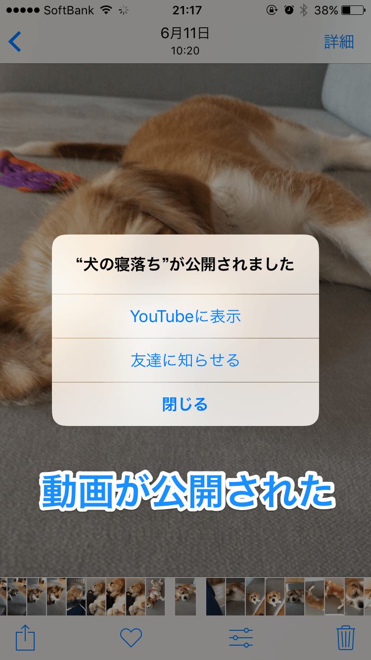 YouTube:iPhoneから動画を投稿