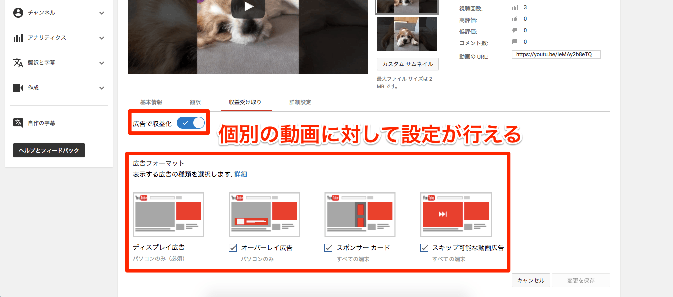 YouTube:動画に広告を表示する(パートナープログラム)