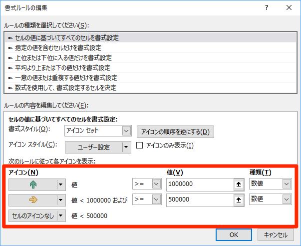 エクセル時短:条件付き書式「アイコンセット」の基本