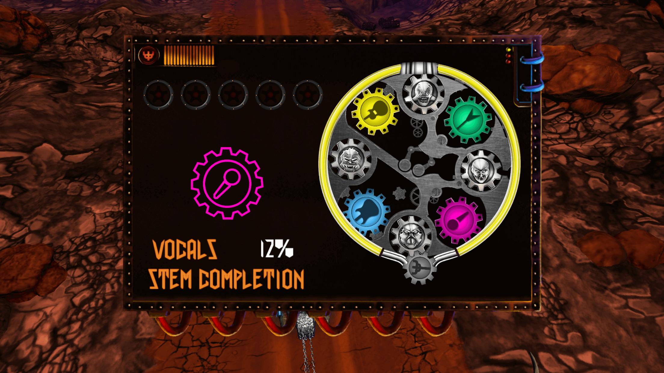 Judas Priest(ジューダス・プリースト)の[Road to Valhalla]アプリでステムポイントをためていく画面