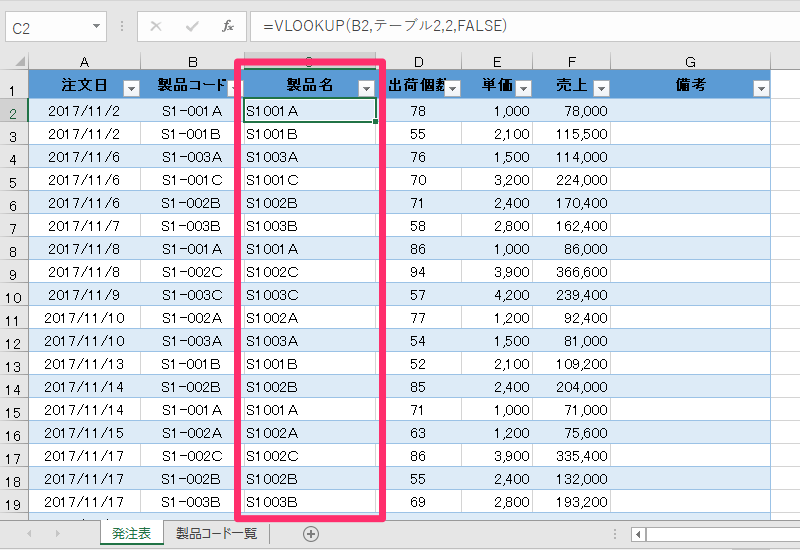 【エクセル時短】VLOOKUP関数には「構造化参照」! テーブルを活用してデータの増減に自動対応する