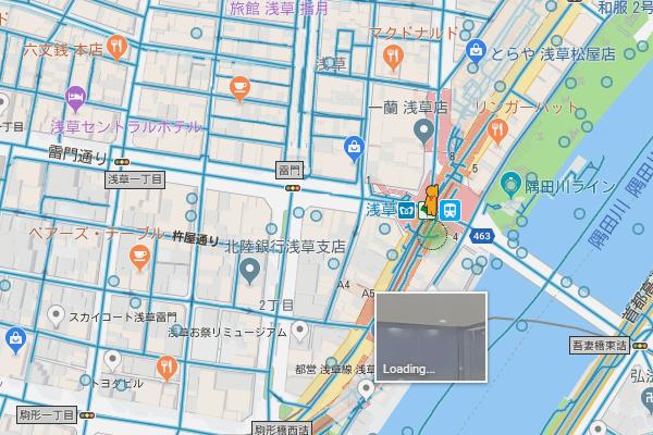 グーグル マップ ストリート ビュー スマホ