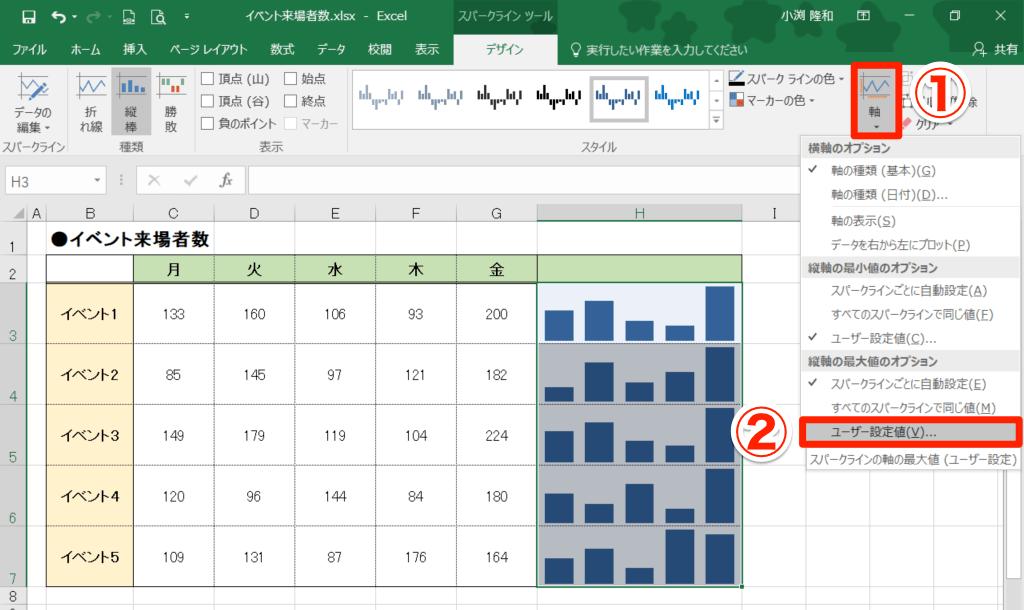 【エクセル時短】「スパークライン」使ったことある? 表の数値を視覚化したミニグラフをセル内に入れる方法