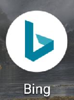 Android版(アンドロイド版)の「Bing」(ビング)アプリのアイコン