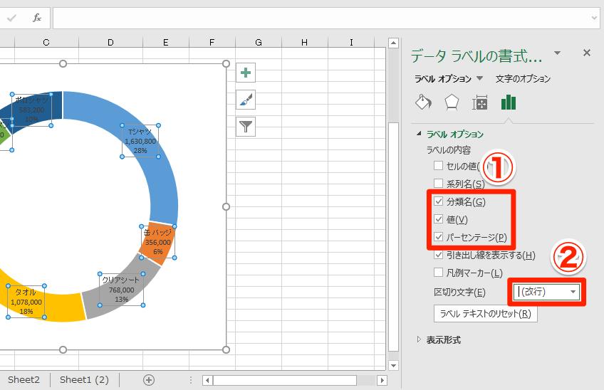 【エクセル時短】円グラフを見やすく! 割合・比率を上手に表現するドーナツグラフの基本ワザ