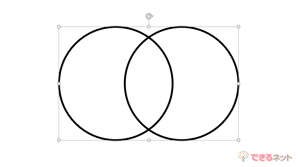 PowerPointで「ベン図」を作成する方法。重なりを抽出・色分けして共通点や相違点を視覚化する