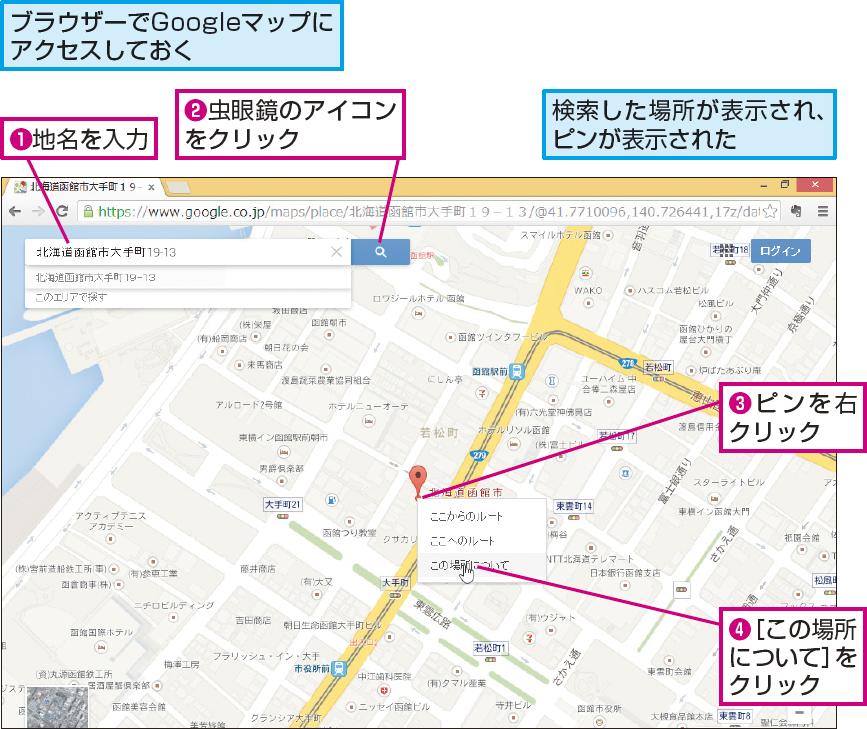 操作解説:Googleマップで検索する