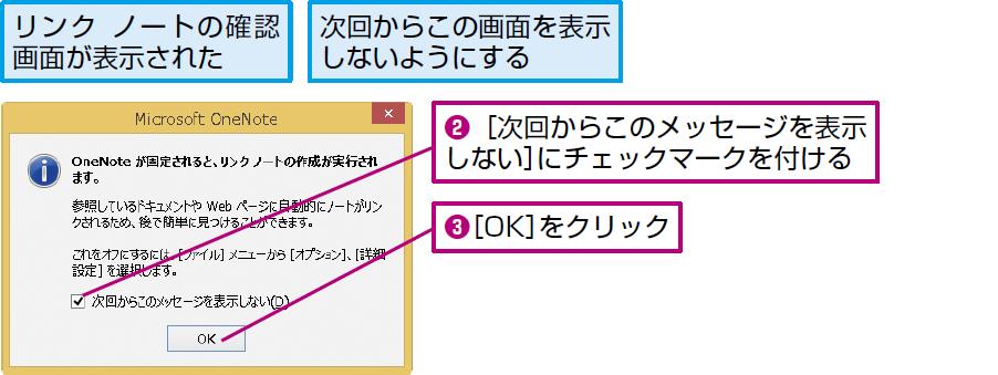 操作:確認画面が表示されたら[OK]をクリックする。