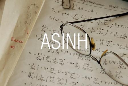 ASINH関数で双曲線逆正弦を求める