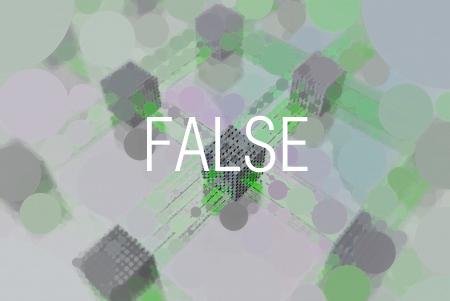 FALSE関数で常に偽(FALSE)であることを表す