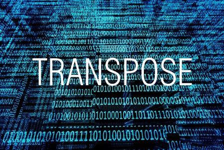 TRANSPOSE関数で行と列の位置を入れ替える