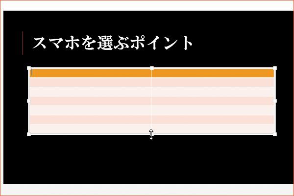 パワーポイントで表を挿入する方法
