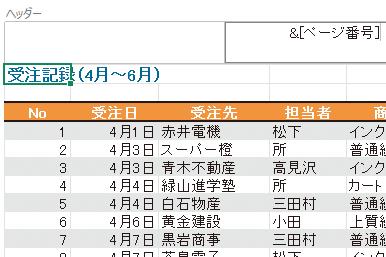 Excelのワークシートにページ番号を挿入して印刷する方法
