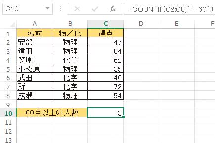 Excel関数で「○以上」の条件を満たすデータを数える方法 | できるネット