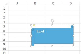 Excelで作成した図形に文字を入力する方法