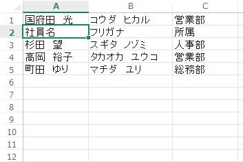 Excelの表の見出しの行が並べ替えられないようにする方法