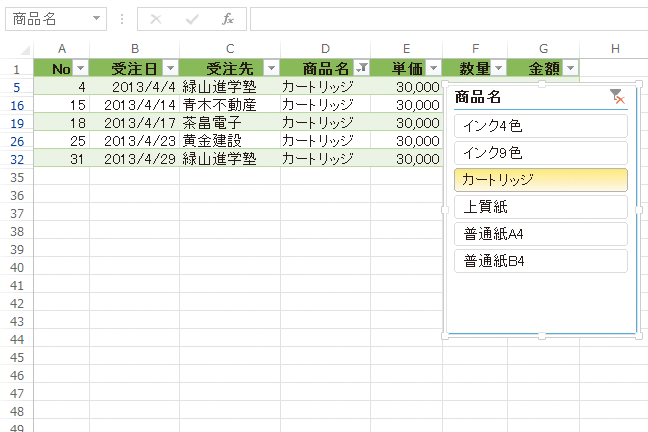 Excelでテーブルのデータを「スライサー」で簡単に抽出する方法