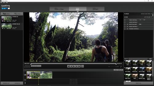 GoPro Studioで編集作業を行う[EDIT]画面の構成