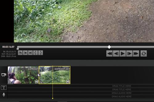 GoProで撮影した2本の動画をGoPro Studioで1本にする方法