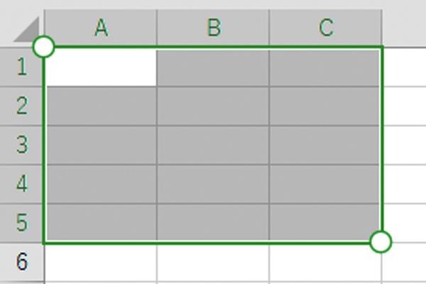 Excelのセル範囲をタッチ操作で選択する方法