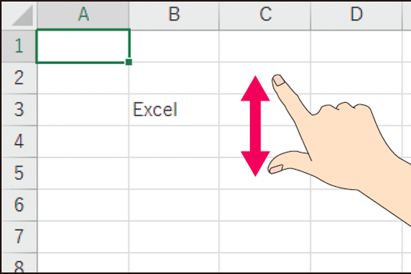 WordやExcelの画面の表示倍率をタッチ操作で変える方法