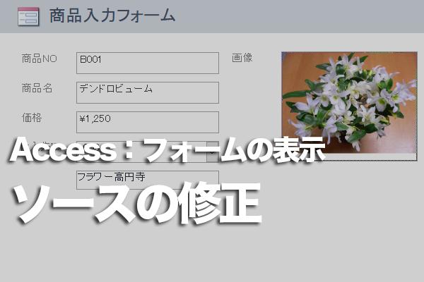 Accessのフォームのテキストボックスに「#Name」と表示されてしまう