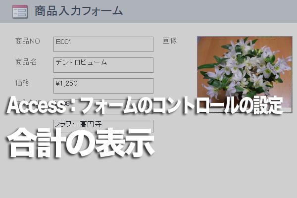 Accessのフォームでテキストボックスに金額の合計を表示する方法