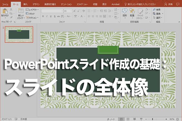 PowerPointのスライドの構成を決める