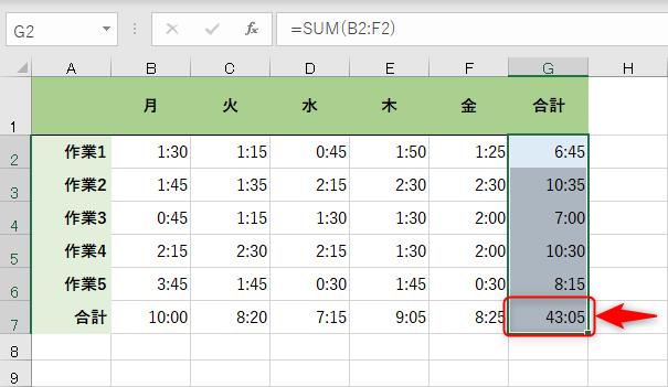 【エクセル時短】時間計算の基本。24時間を超えるときの時間の書式設定と時間を丸めるときの3つの関数