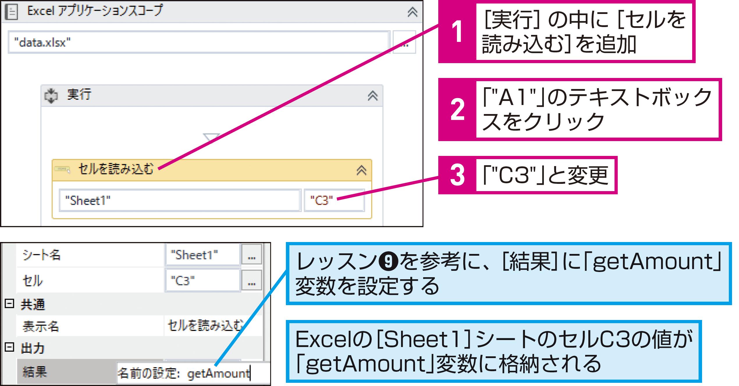 できるUiPath】Excelからデータを取得して業務を自動化しよう | できるネット