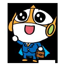 できるシリーズマスコットキャラクター「できるもん」のアイコンです。