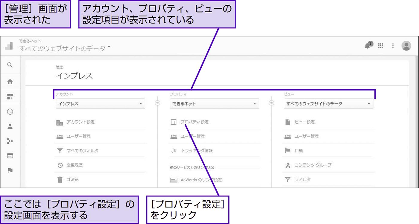アカウント、プロパティ、ビューを理解する - できる逆引き Googleアナリティクス 増補改訂2版