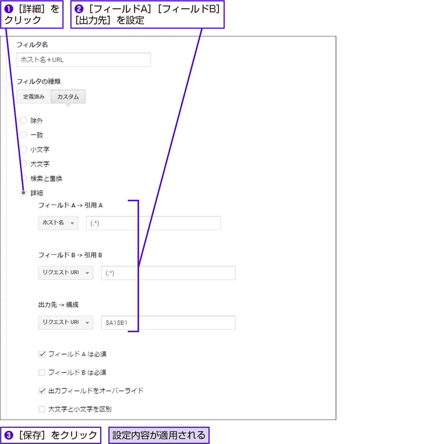 ホスト名+URLで解析してドメイン間のトップページを区別する - できる逆引き Googleアナリティクス 増補改訂2版